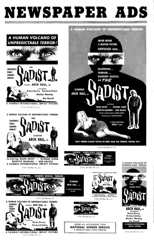 the sadist pressbook