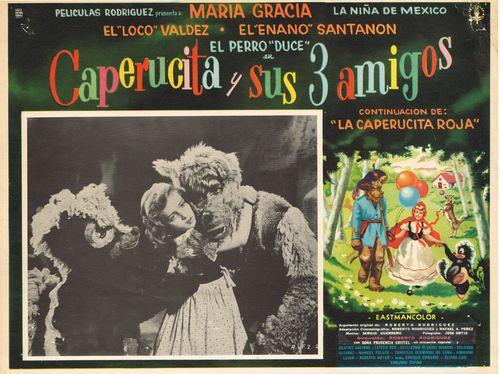 Caperucita y Sus 3 Amigos Mexican Lobby Card