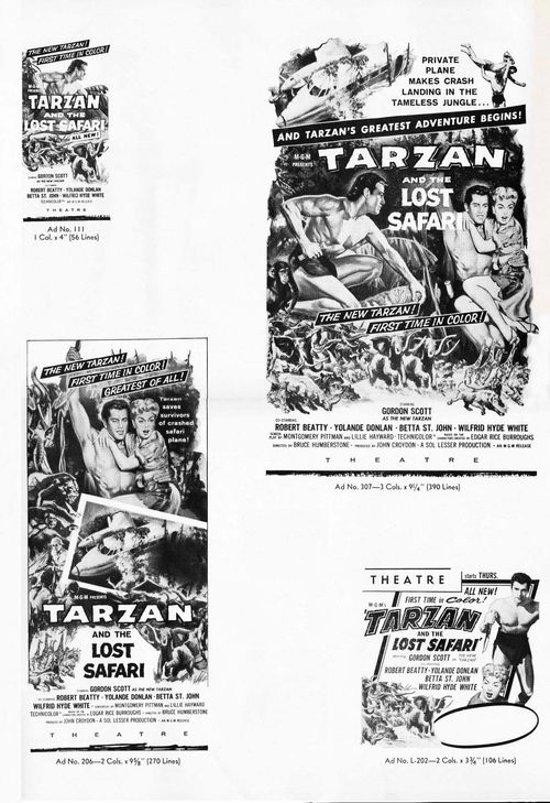 tarzan and the lost safari pressbook