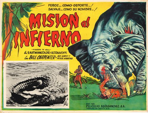 mision al infierno mexican lobby card