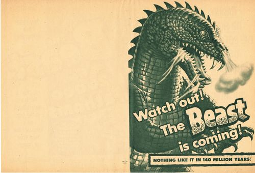 the beast from 20,000 fathoms pressbook herald