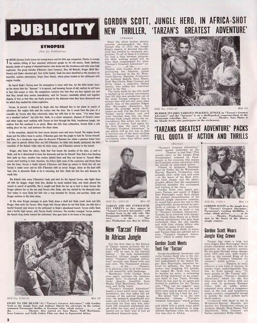 tarzan's greatest adventure pressbook
