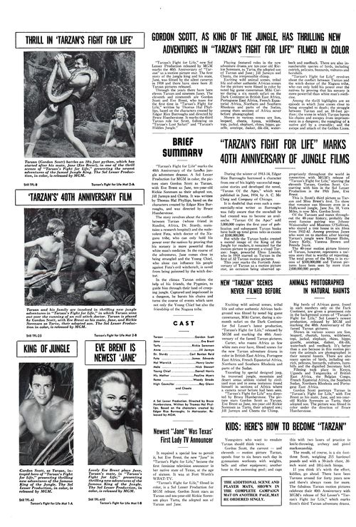 tarzan's fight for life pressbook