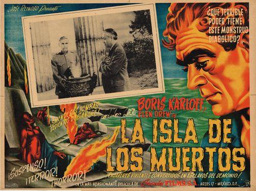 La Isla De Los Muertos Mexican Lobby Card