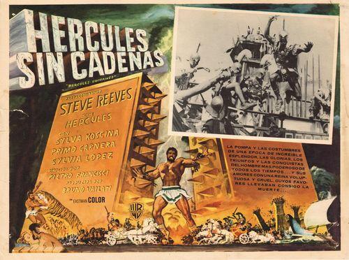 Hercules Sin Cadenas Mexican Lobby Card