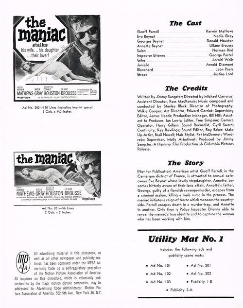 the maniac pressbook