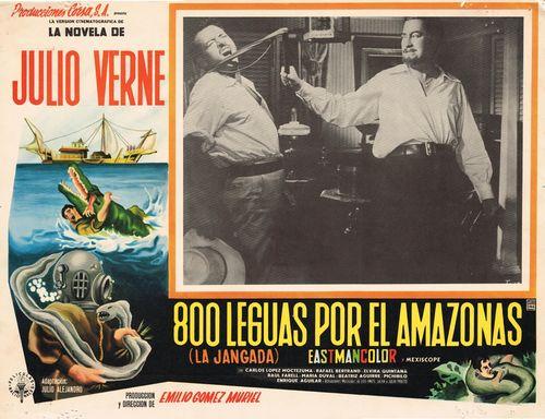 800 Leguas Por El Amazonas Mexican Lobby Card
