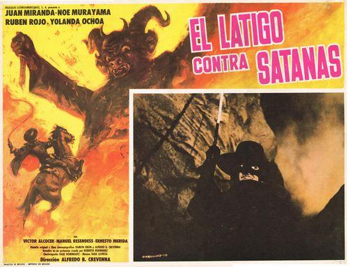 El Latigo Contra Satanas Mexican Lobby Card