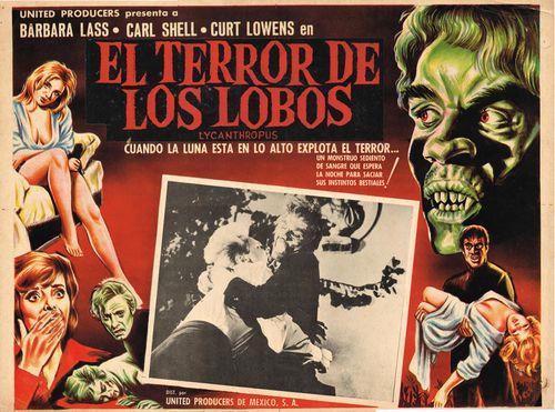 El Terror De Los Lobos Mexican Lobby Card
