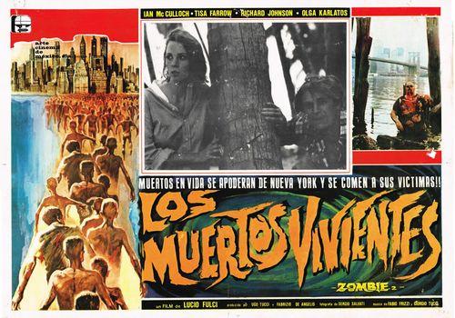 Los Muertos Vivientes Mexican Lobby Card