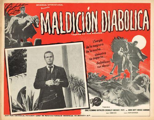 Maldicion Diabolica Mexican Lobby Card