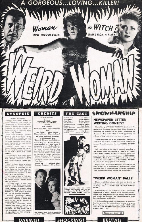weird woman pressbook