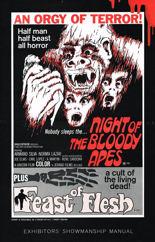 night of bloody apes and feast of flesh pressbook