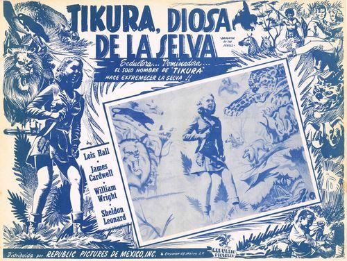 Tikura, Diosa Del La Selva Mexican Lobby Card