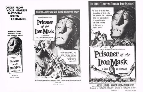 Prisoner of the Iron Mask Pressbook