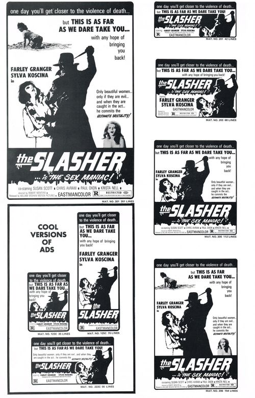 The Slasher...is the Sex Maniac! Pressbook