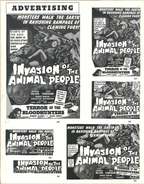 invasion of the animal people pressbook