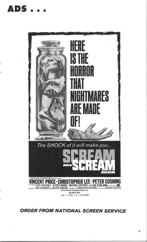 scream and scream again pressbook