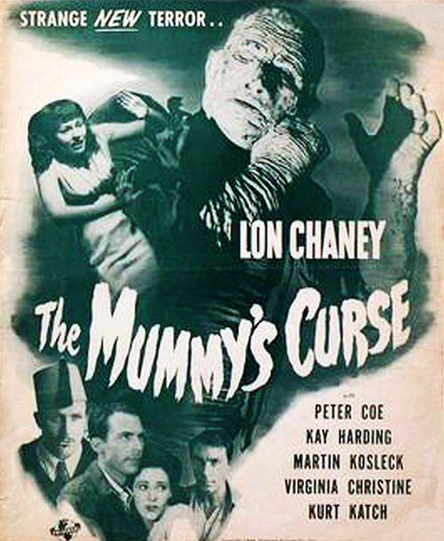 the mummy's curse pressbook