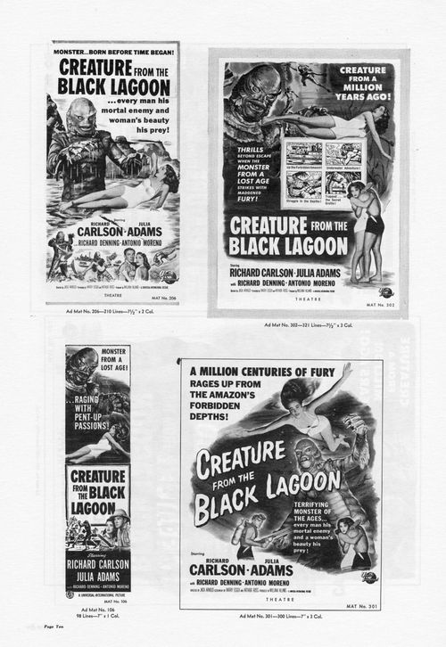 creature from the black lagoon pressbook