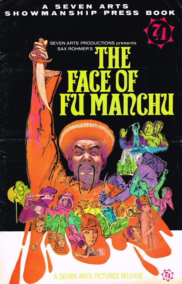 Movie Pressbook The Face Of Fu Manchu 1965 From Zombos