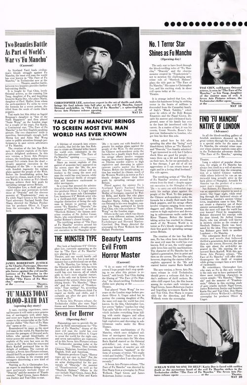 face of fu manchu pressbook