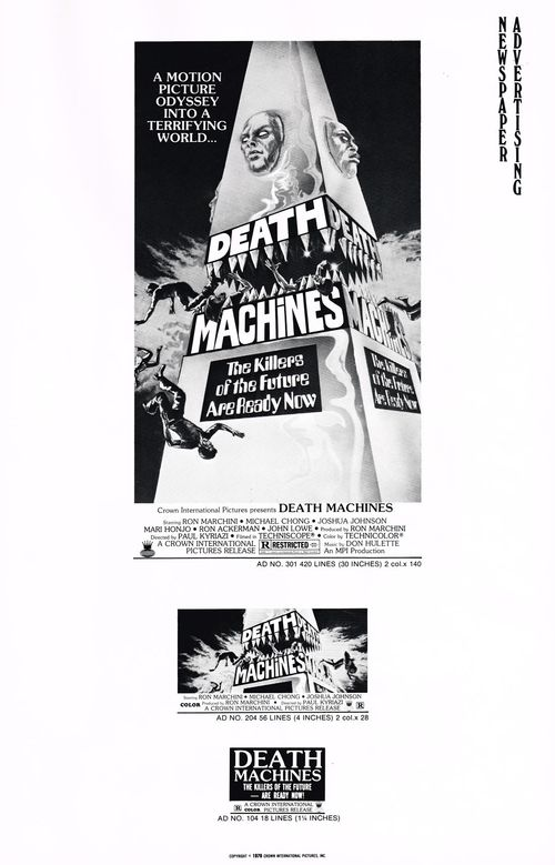 death machines pressbook