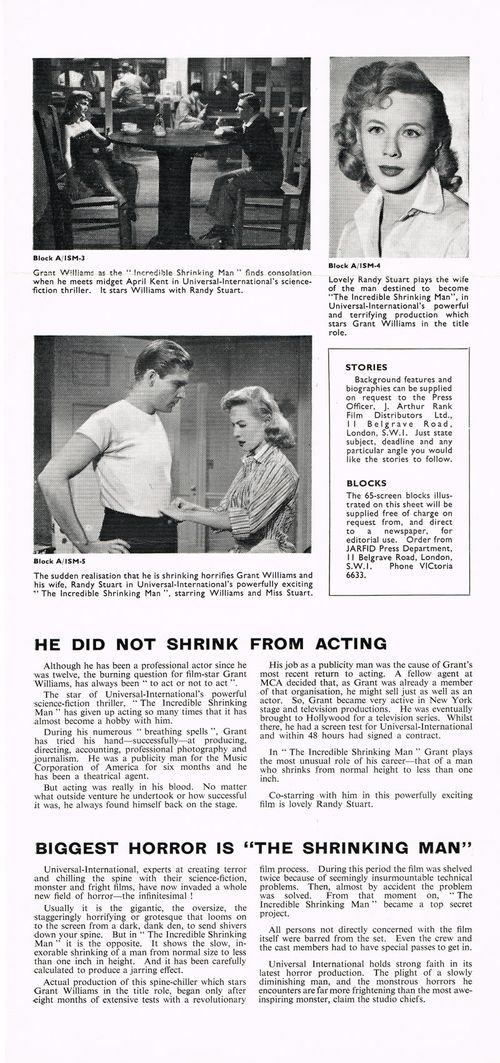 the incredible shrinking man pressbook