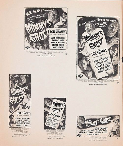 the mummy's ghost pressbook