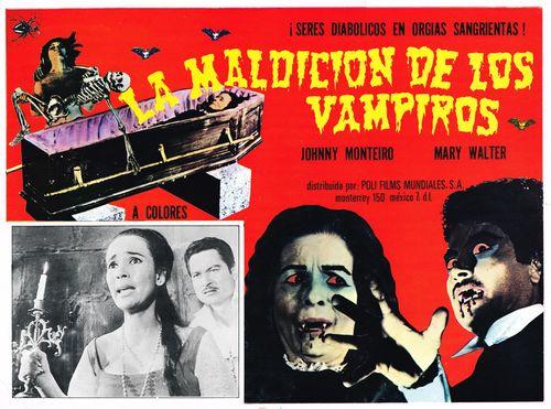 La Maldicion De Los Vampiros Mexican Lobby Card