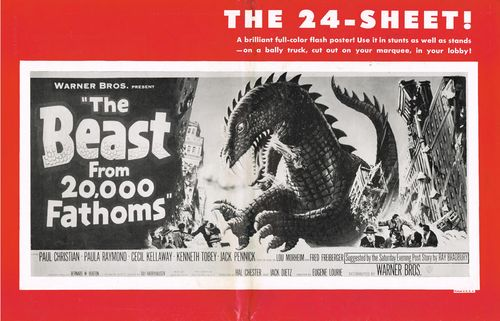 the beast from 20,000 fathoms pressbook 2