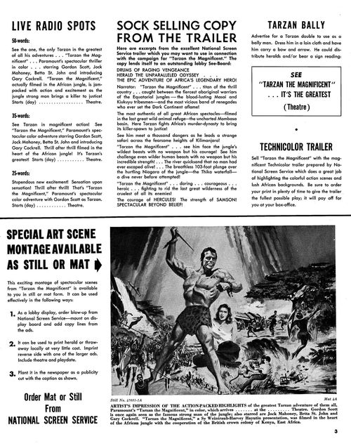 tarzan the magnificent pressbook