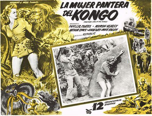 La Mujer Pantera Del Kongo Mexican Lobby Card