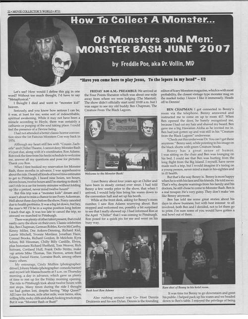 monster bash 2007 movie collectors world