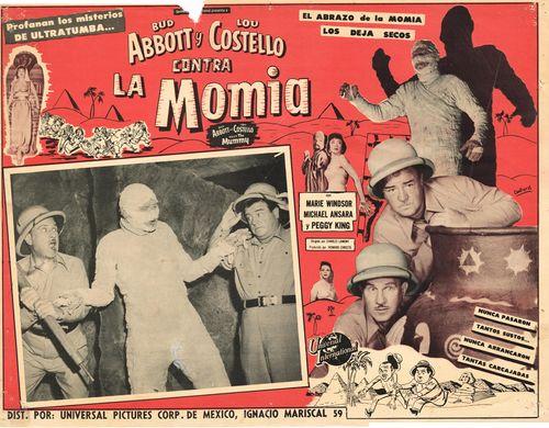 Abbott and Costello Contra La Momia Mexican Lobby Card