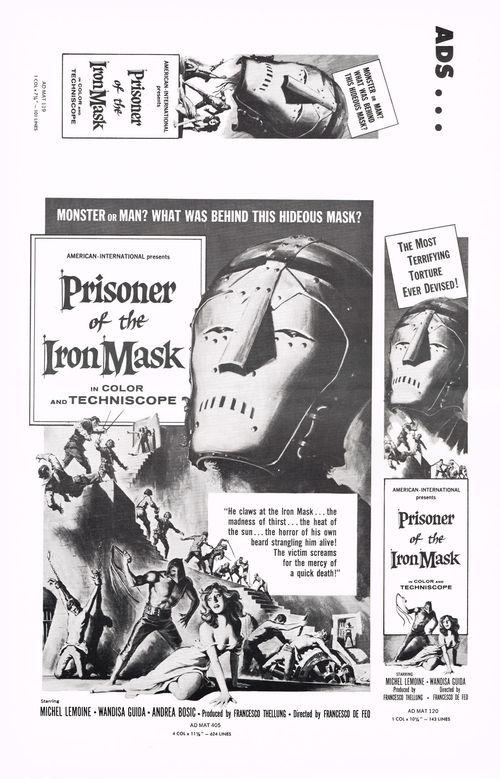 Prisoner in the Iron Mask Pressbook