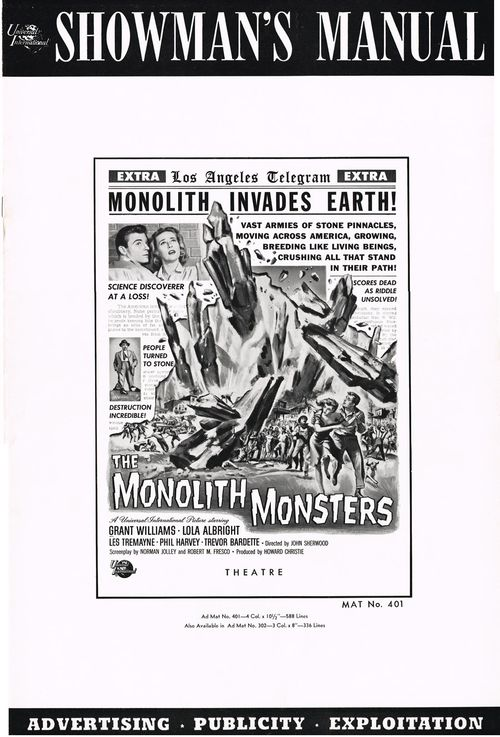 The Monolith Monsters Pressbook