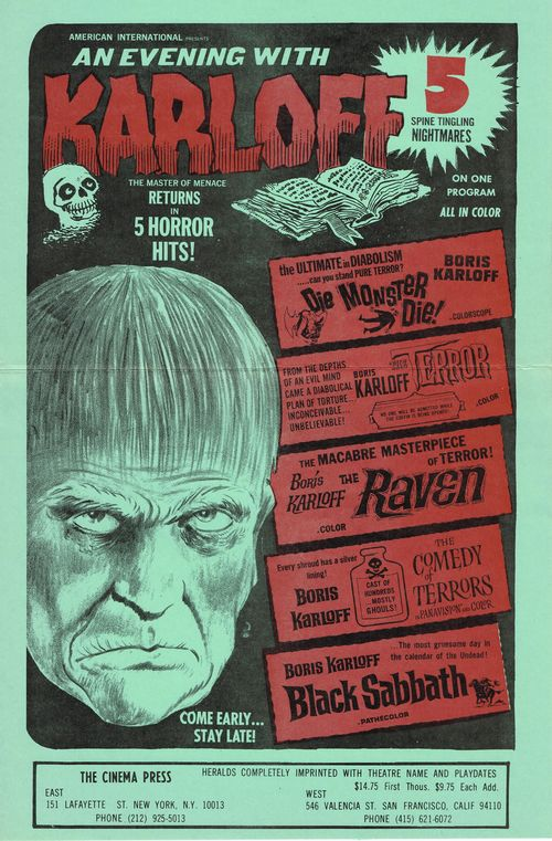 an evening with karloff