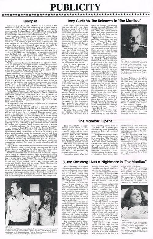 The Manitou Pressbook