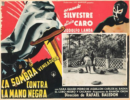 La Sombra Vengadora Contra La Mano Negra mexican lobby card