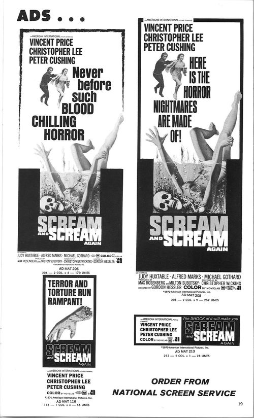 scream and scream again pressbook