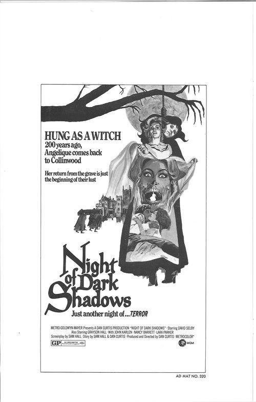 night of dark shadows pressbook