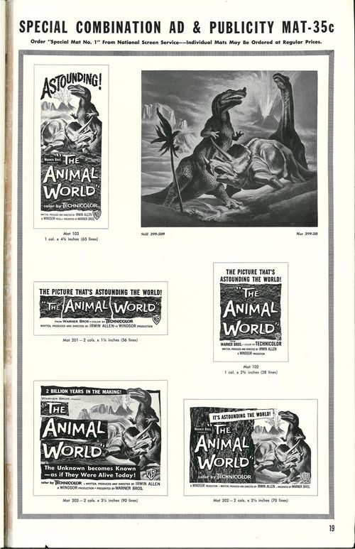 the animal world pressbook