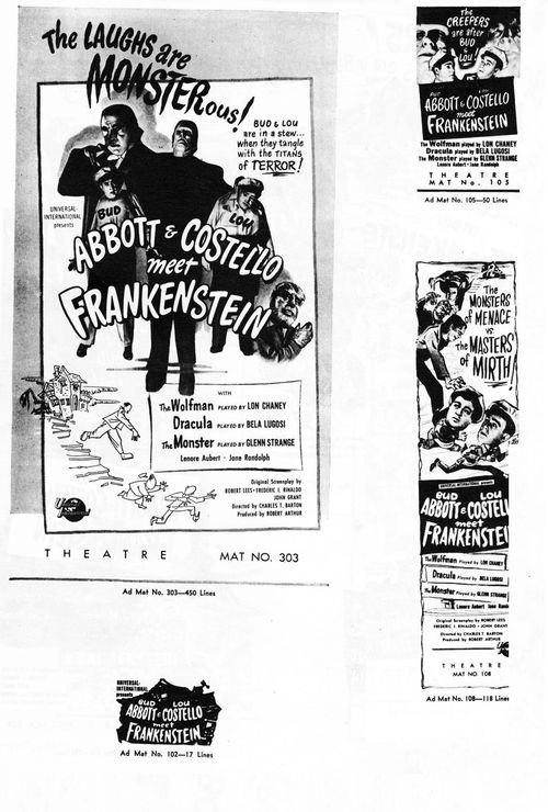 abbott and costello meet frankenstein pressbook