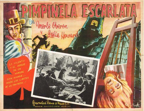 pimpinela escarlata Mexican lobby card
