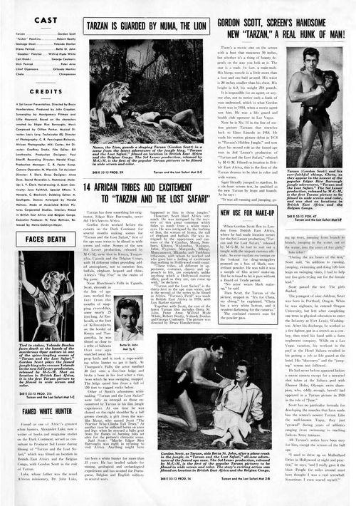 tarzan and the lost safari pressbook