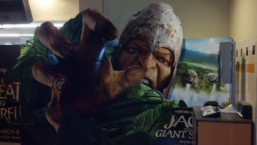 jack the giant slayer movie display