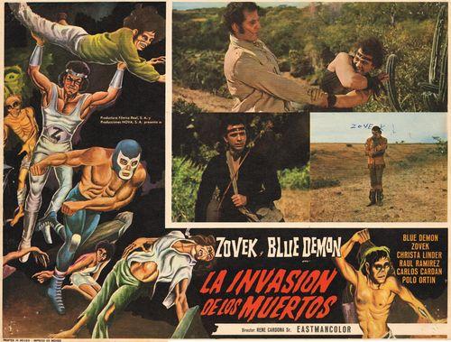 La Invasion De Los Muertos Mexican Lobby Card