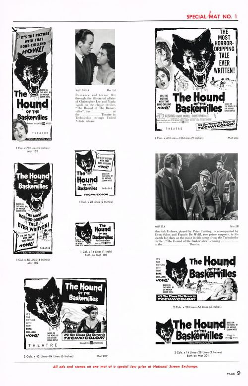 hound of the baskervilles pressbook