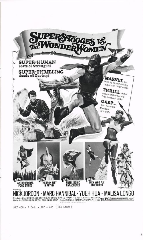 Super Stooges vs. The Wonder  Women pressbook
